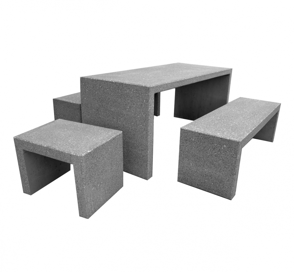 sitzbank klein 60x45x45cm granit hell geschliffen naturstein versand. Black Bedroom Furniture Sets. Home Design Ideas